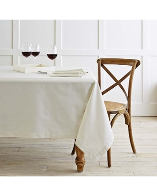 """Hotel Tablecloth, 70"""" X 126"""", Ivory"""