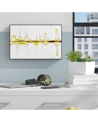 """Ebern Designs 'Sweet Sound of Your Voice' Framed Painting Print on Wrapped Canvas W000275237 Size: 32"""" H x 48"""" W x 2"""" D"""