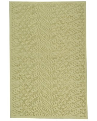 """Martha Stewart Surf Abstract Hand Knotted Green Area Rug Martha Stewart Rugs Rug Size: Rectangle 7'9"""" x 9'9"""""""