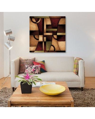 """East Urban Home 'Connections I' Painting Print on Canvas ESUR6672 Size: 26"""" H x 26"""" W x 0.75"""" D"""