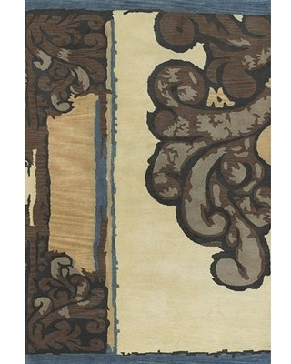 Caston Ivory/Brown Area Rug Bloomsbury Market Rug Size: Rectangle 2' x 3'