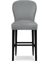 Maxwell Bar Stool w/Out Handle Tuscan Leather Solid Dove Polished Nickel