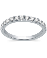 Ever Star 1/2 CT. T.W. Lab Grown White Diamond 10K White Gold Anniversary Wedding Band, 6 , No Color Family
