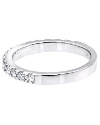 Unique Diamond Engagement Ring 0.27ctw in 14k Gold by Luxurman (White - 8)