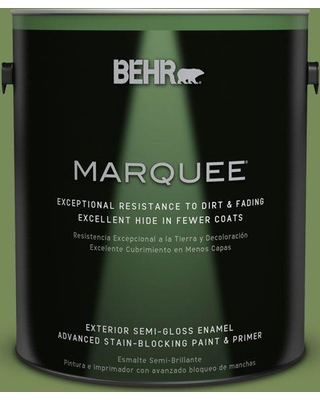 BEHR MARQUEE 1 gal. #MQ6-52 Lucky Clover Semi-Gloss Enamel Exterior Paint and Primer in One