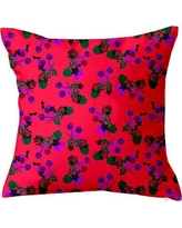 "SafiyaJamila Betty Floral Throw Pillow Betty_Orange1 / Betty_Orange2 Size: 18"" H x 18"" W x 4"" D, Color: Pink"