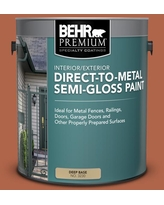Find Big Savings On Behr Premium 5 Gal M200 7 Rusty Gate Semi Gloss Direct To Metal Interior Exterior Paint