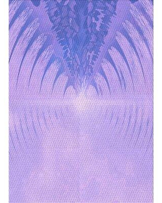 East Urban Home Wool Purple Area Rug X112522639 Rug Size: Rectangle 2' x 4'