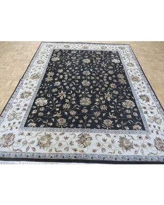"""One-of-a-Kind Beane Hand-Knotted Black/Beige 7'11"""" x 10'1"""" Wool Area Rug"""