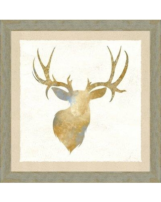 Loon Peak 'Animal Head IV' Framed Watercolor Painting Print LNPE1136