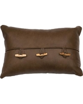 Wooded River Leather Lumbar Pillow WD80210