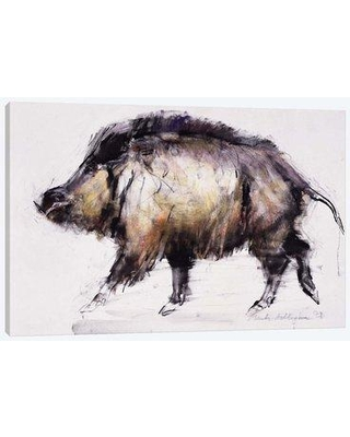 """East Urban Home 'Wild Boar' By Mark Adlington Graphic Art Print on Wrapped Canvas ETRC6202 Size: 26"""" H x 40"""" W x 0.75"""" D"""