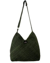 Leaf Green Cotton Hobo Style Handbag with Coin Purse