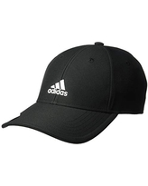 adidas Youth Kids-Boy's/Girl's / Decision Structured Adjustable Cap, Black/White, ONE SIZE