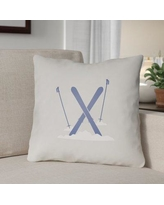 """The Holiday Aisle Square Indoor/Outdoor Throw Pillow THDA8965 Color: White / Blue, Size: 20"""" H x 20"""" W x 4"""" D"""