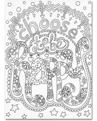 """Trademark Art 'Choose to be Happy' Graphic Art on Wrapped Canvas ALI3324-C Size: 19"""" H x 14"""" W x 2"""" D"""
