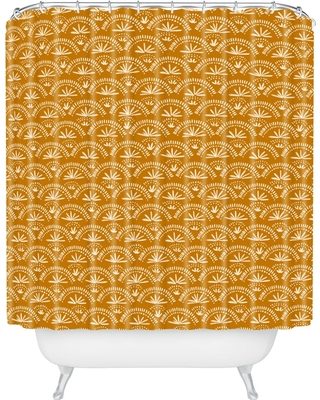 Moroccan Fan Shower Curtain Flare - Deny Designs