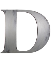 """13"""" Hand Painted 3D Wall Sculpture Letter D Nickel - Letter2Word"""