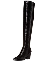 Report Women's Janelle Over The Knee Boot, Black, 7.5 M US