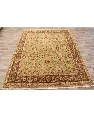 "Alcott Hill One-of-a-Kind Roseann Hand-Knotted 8'2"" x 10' Wool Beige Area Rug W000708978"