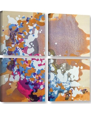 """Latitude Run Ambivalent 4 Piece Painting Print on Wrapped Canvas Set LTRN6182 Size: 48"""" H x 48"""" W"""