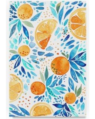 """Trademark Fine Art 'Citrus 2' Watercolor Painting Print on Wrapped Canvas ALI21160-C Size: 32"""" H x 22"""" W"""