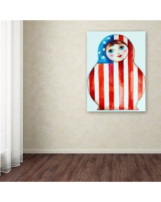 """Ebern Designs 'Russian Doll' Graphic Art Print on Wrapped Canvas EBND8211 Size: 47"""" H x 35"""" W"""