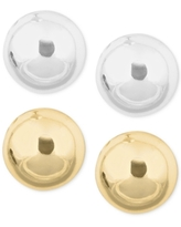 Nine West Gold-Tone and Silver-Tone Stud Duo Earring Set
