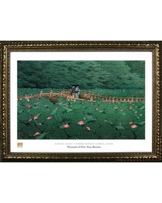 Buy Art For Less 'Museum Masters 'Summer Benton Shrine Shiba' by Kawase Hasui Framed Painting Print IF MFA107G