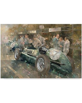 """Trademark Art 'R. Parnell's Maserati' Oil Painting Print on Wrapped Canvas BL01787-CGG Size: 12"""" H x 19"""" W x 2"""" D"""