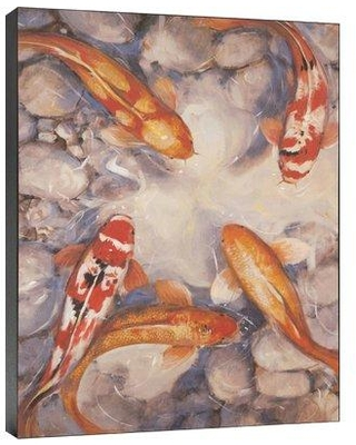 World Menagerie 'Vibrant Koi I' Print of Painting on Wrapped Canvas 3084