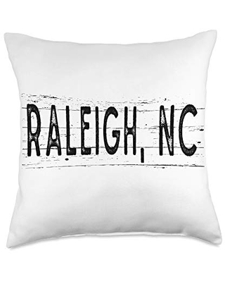 Check Out Deals On Retro Dreake Raleigh North Carolina Wood Grain City Throw Pillow 18x18 Multicolor