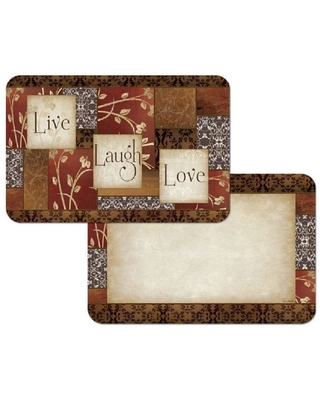 Counterart Reversible Plastic Wipe Clean Placemats - Spice of Life (Set of 4) (Spice of Life)