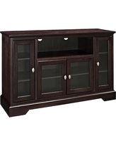 "52"" Wood Highboy TV Media Stand Storage Console - Espresso - Saracina Home, Brown"