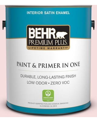 BEHR PREMIUM PLUS 1 gal. #140C-1 Southern Beauty Satin Enamel Low Odor Interior Paint and Primer in One