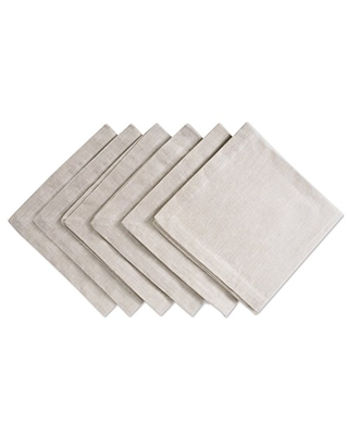 DII 100% Cotton Chambray Kitchen Tabletop Collection, Napkin, Natural 6 Count