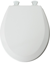 Mayfair Round Molded Wood Toilet Seat with Easy•Clean & Change Hinge, White