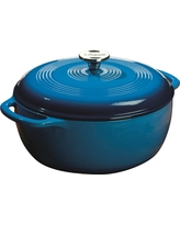 Lodge Cast Iron Enamel Dutch Oven 6 Quart Blue