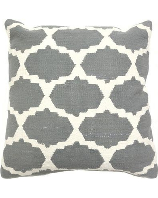 India's Heritage Cotton Woven Throw Pillow INHR1380 Color: Gray