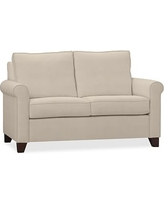 """Cameron Roll Arm Upholstered Loveseat 62.5"""", Polyester Wrapped Cushions, Performance Everydaysuede(TM) Stone"""