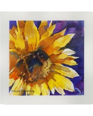 """Trademark Art 'Solstice Sunflowers' Watercolor Painting Print on Wrapped Canvas ALI38137-CGG Size: 24"""" H x 24"""" W x 2"""" D"""