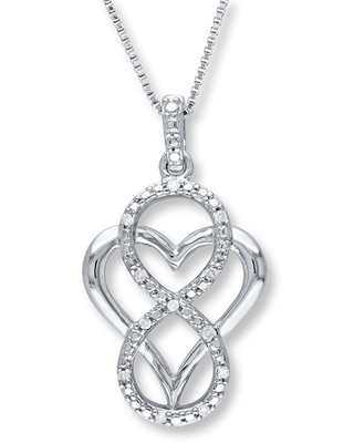 Jared The Galleria Of Jewelry Diamond Necklace 1/20 ct tw Round-Cut Sterling Silver