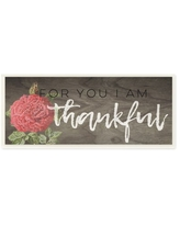 The Stupell Home Decor Collection For You I Am Thankful Red Rose Wall Plaque Art, 7 x 0.5 x 17
