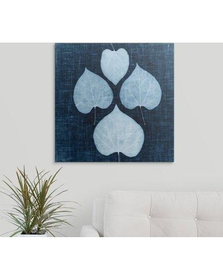 "Great Big Canvas 'Leaves on Linen IV' by Debra Van Swearingen Graphic Art Print 2358746_1 Size: 10"" H x 10"" W x 1.5"" D Format: Canvas"