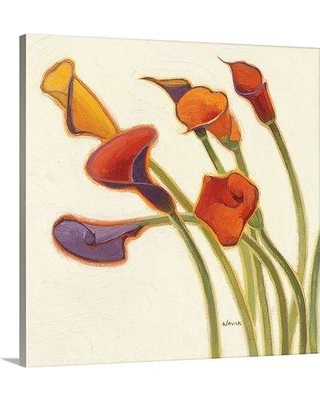 "Great Big Canvas 'Callas in the Wind II' by Shirley Novak Painting Print 1051368_1 Size: 30"" H x 30"" W x 1.5"" D Format: Canvas"