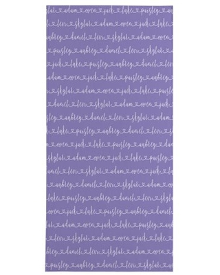 Personalized Allover Name Beach Towel - Purple