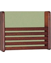 Peter Pepper Wall Mounted Magazine Rack 461-X-X Wood Finish: Natural Maple Back Panel Color: Black