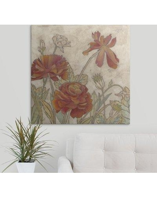"Great Big Canvas 'Rising Sun Blooms I' Megan Meagher Painting Print 1171770_1_ Size: 8"" H x 8"" W x 1.5"" D Format: Canvas"