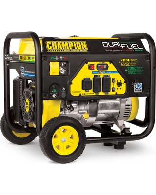 Deals On Champion Power Equipment 6250 Watt Dual Fuel Powered Portable Generator With Co Shield Technology
