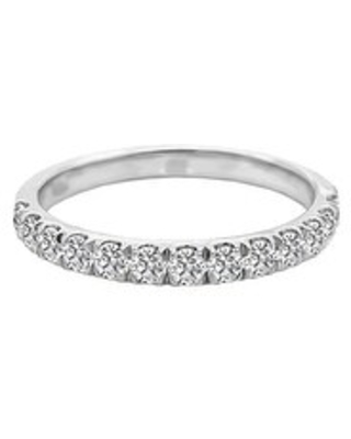 14K Gold Diamond Wedding Band (0.50 Ct, G-H Color, SI2-I1 Clarity) by Noray Designs (8.5 - White)